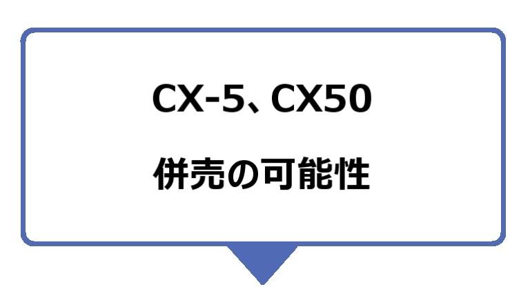 CX-5、CX-50は、併売される可能性も